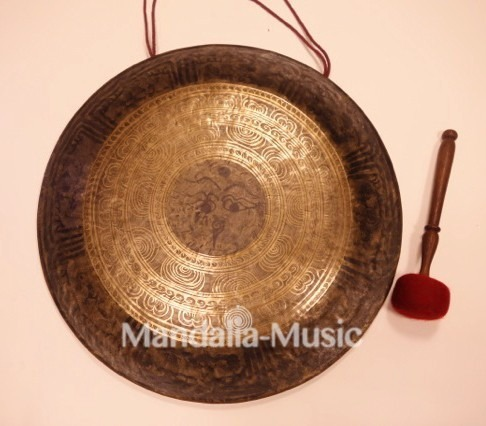 Gong Tibétain 80cm bords recourbés