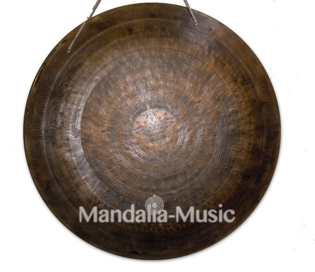 gong tibétain traditionnel plat