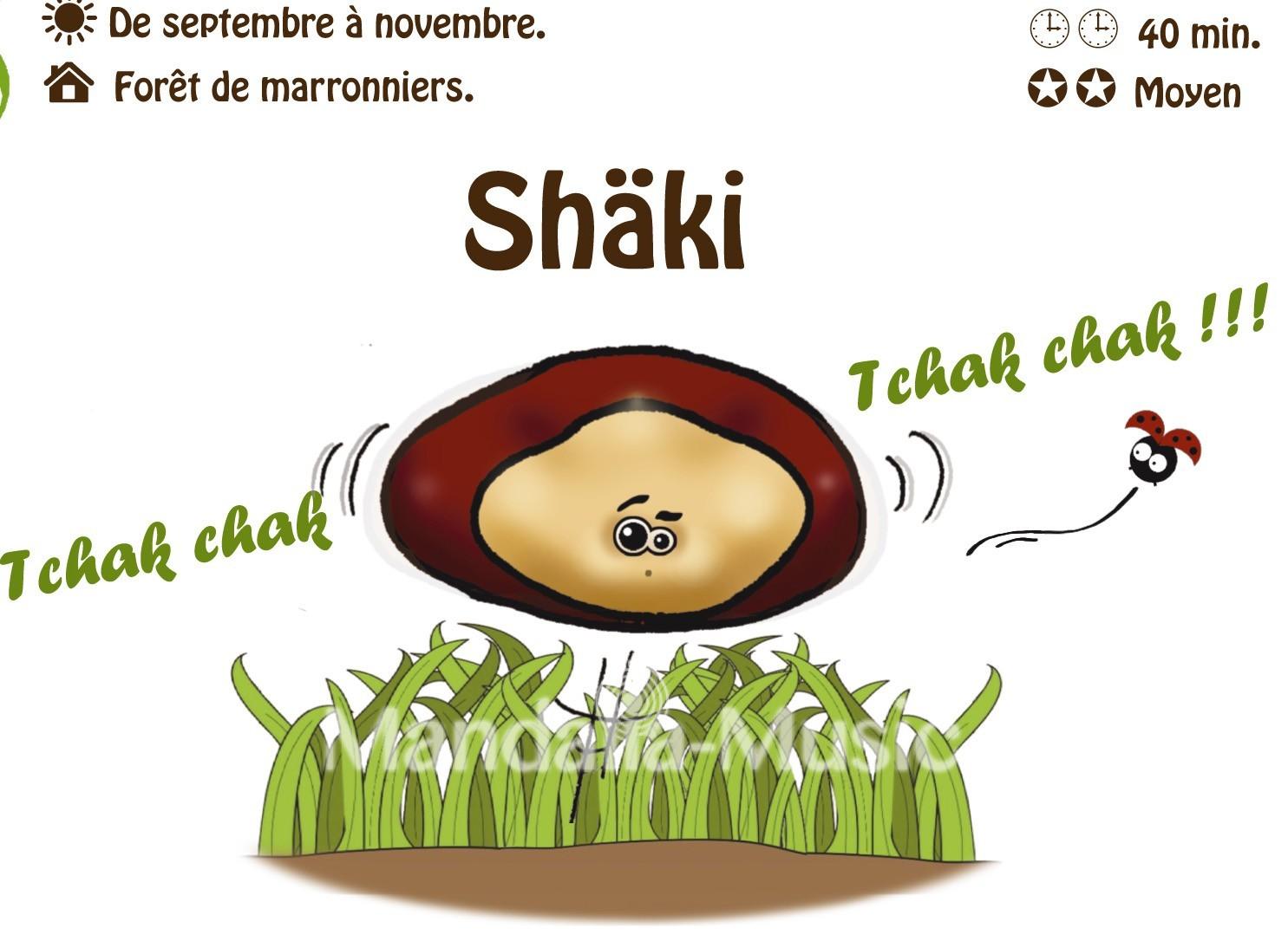 SHAKI : Le marron shaker (Flutin des bois)