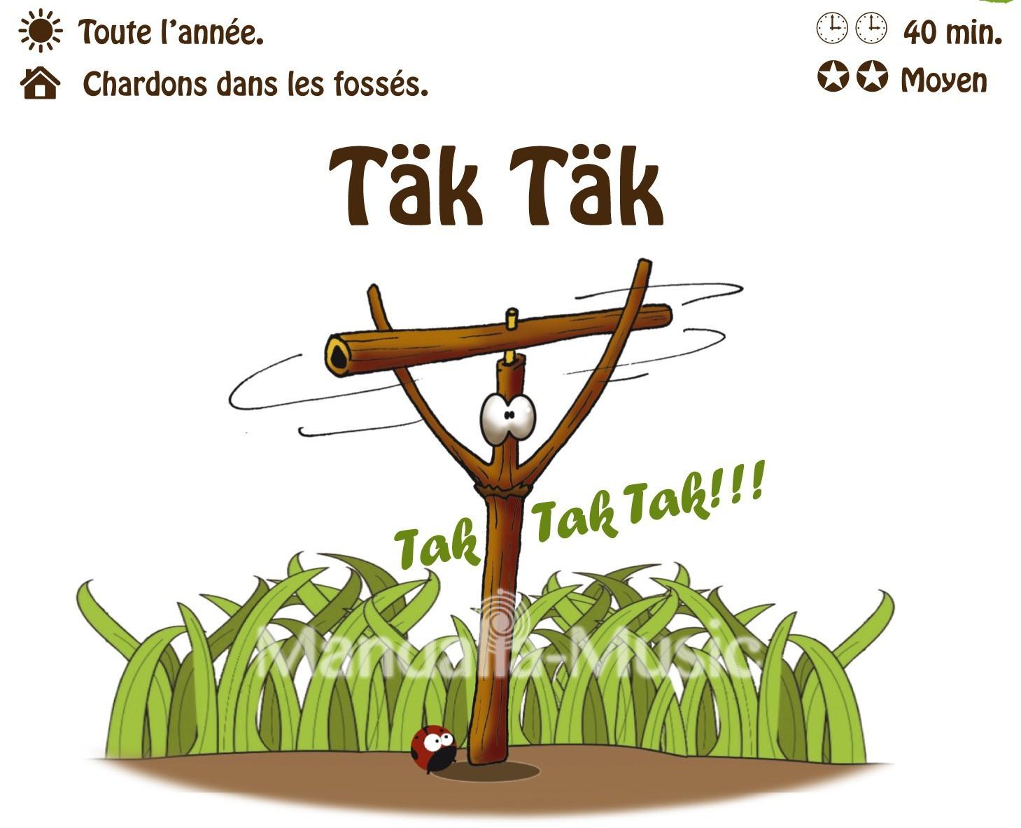 TAK TAK : Le chardon claquant (Flutin des bois)