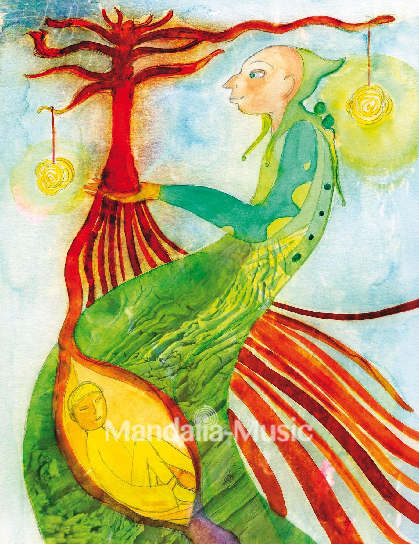 Toile 'l'arbre vénérable'