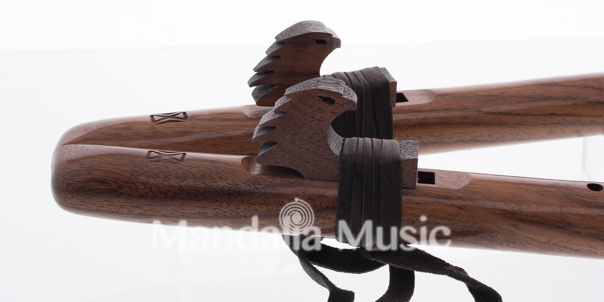 Double Flûte kestrel Ré en noyer