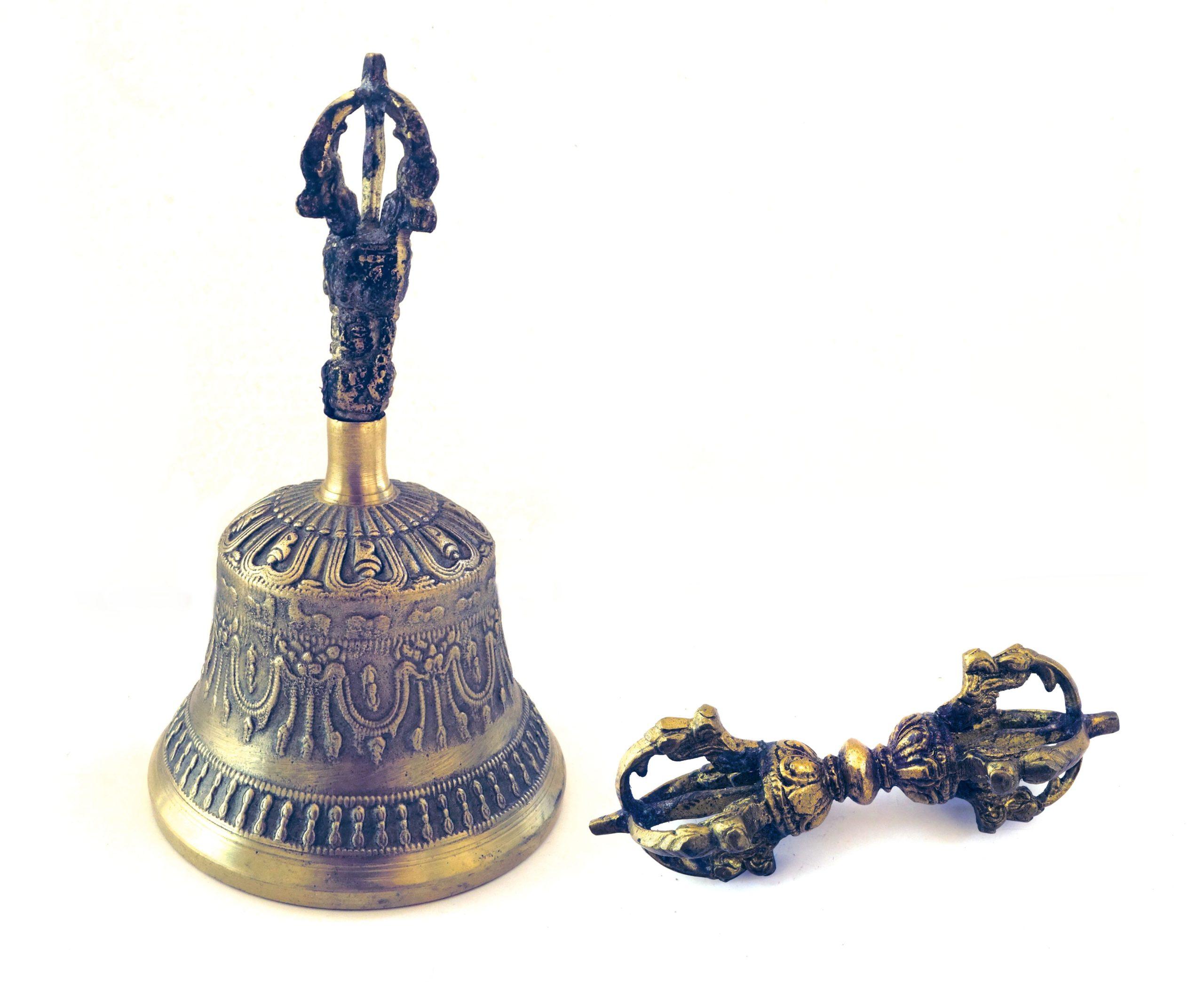 Cloche et dorje tibetain