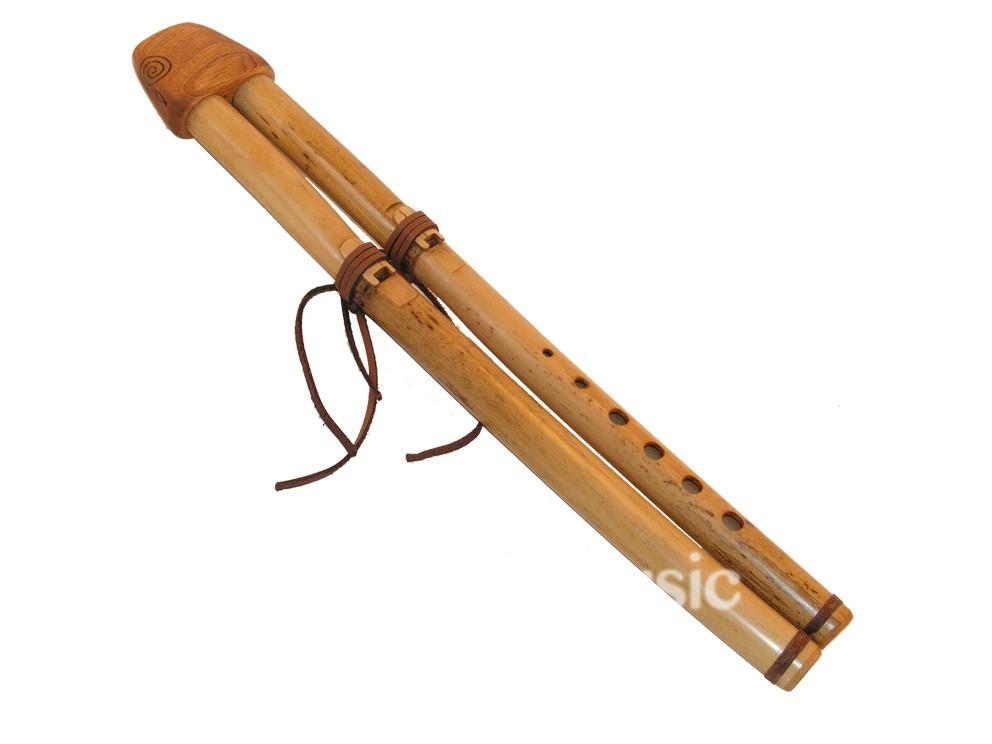 Double flûte canne Ré (432Hz)