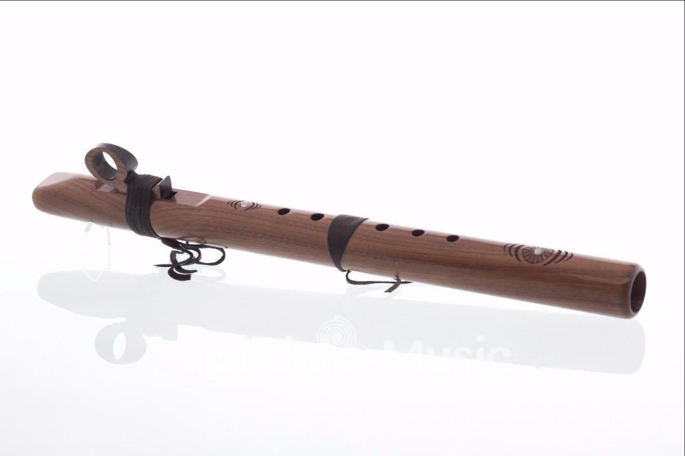 Flûte Condor Bass en Mi 432Hz Noyer (Fréquence terre)